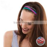 Customized unisex Nylon Sport non slip Yoga running headband for gym