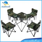portable folding outdoor camouflage tables and chairs kit set                                                                         Quality Choice