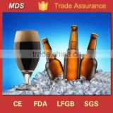 Short stem tulip thin beer glass with bell ring