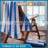 ToBest 32s 100% cotton printed white and blue stripe beach towels / bath towel                                                                         Quality Choice