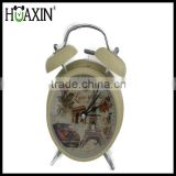 Fashional design children's alarm clock with beautiful scenery/tower clocks