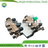 Safe brass digital manifold gauge 2 to 12 ways not leaking with cheap price made in China