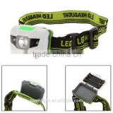 LED Headlight super bright 3W Ultra Bright 2 White Headlamp 3 Modes waterproof head lamp for Outdoor caming or caving