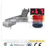 10 ton LXJ-10 Model showering (water bath) type berry fruit washe(Industrial berry fruits washer)