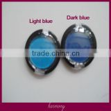 Blue Color round shape hair chalk with circle box