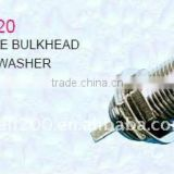 Bulkhead F female connector with nut & washer