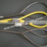 6*19/6*24 FC IWRC Galvanized Wire Rope Sling(spliced+pressed)/steel wire rope slings for lifting