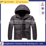 Men thick 50D plus size winter bomber hoody fashion jacket stock for European Market                                                                         Quality Choice