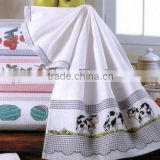 Luxury embroidery cotton fabric bath towel set                                                                         Quality Choice