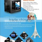 2016 best selling Factory direct supply brand new Multi-functional 3d printer metal frame abs pla by SD card printing