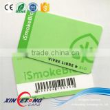 printing barcode rfid card HF 13.56MHZ F08 chips supermarket card vip card                                                                                                         Supplier's Choice