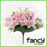 18 head artificial peony and lily flower wedding decoration centerpieces