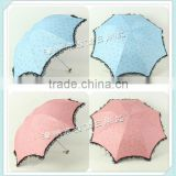 LB315 eye-catching color promotional gift cheap lace wedding parasol umbrella