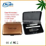 Dican 510 vaporizer cartridge plastic packaging glass tank cbd atomizer 510 thread button batteries 350mah GLA vape ecig