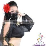 SWEGAL SGBDD13002 9 colors black sexy belly dance mysterious charming fashion faace veils