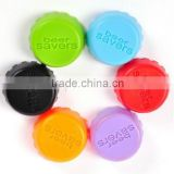ODM/OEM food grade beer saver reusable silicone bottle cap/silicone bottle cap/beer savers