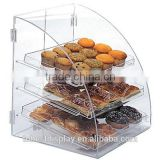 beautiful 3 tiers clear acrylic cupcake display cabinet,acrylic pastry display case,acrylic donut display case