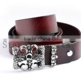 High Quality Wholesale Leather Belt Blanks,Skull Clasp Wearing Belts,,Jeans Baggy pants Suitable,Brown Leather Men Using Belts                                                                         Quality Choice