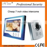 Good looking 7 inch wired vide door phone good quality 700TVL color villa apartment video door bell intercom