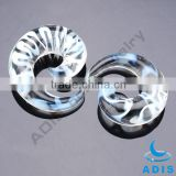Unique Glass Ear Tunnel Piercing Expander Jewelry Wholesale Ear Gauge Spirals                                                                         Quality Choice