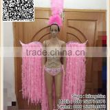 Adult Samba Sexy Pink Feather Boa And Ostrich Feather Headpiece Costume