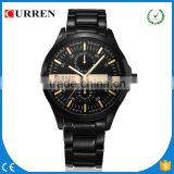 CURREN/CW034 Men Casual quartz Watches stainless steel band Watch Military Wristwatch waterproof Religion Best Gift