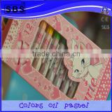 12color Crayon drawing set in paper box back to school/promotion