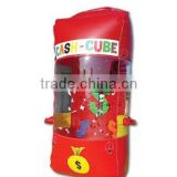 red inflatable cash cube