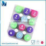 OEM soft conductive silicone rubber button pad