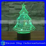 Creative Christmas Decoration 3D LED Night Light Christmas Tree Projector Night Light Indoor Outdoor Decoration Touch Light
