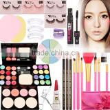 Makeup Set Makeup Brush Mascara False Eyelash Double Eyelids Gel Eyelash Curler Eyebrow Pencil Face Sponge Puff