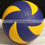official size and weight machine stitch customized PU volley ball for formal games or training