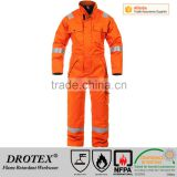 Breathable electrostatic FR winter Europe Coverall for use in welding and allied processes