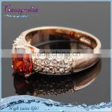 Latest design women's wedding ruby diamond weight of gold ring