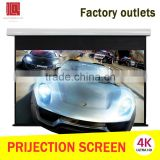 China factory wholesale cinema equipment wall mount fixed 3d movie electric motorized projection screen