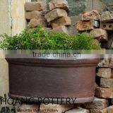 Garden Planter Black Clay Pots Wholesale Cheap