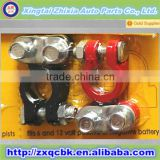 Magnesium aluminum alloy one black one red Positive and negative 12V battery terminal connectors
