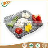 Free sample FDA SGS Reusable high tempreture resistance washable non stick teflon coated BBQ baking cooking mesh