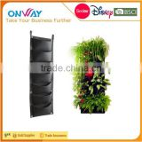 7 Pocket Felt Bag Vertical Garden Plant Grow Container Bags, Living Wall Hanging Planter