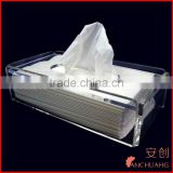 wall mounted acrylic book shelf_clear acrylic tissue box holder