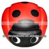 RED/BLACK BEETLE PVC/WOODEN KID ONE SEAT SOFA