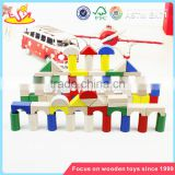 wholesale colorful 80 pieces kids wooden toy building blocks best sale children wooden building blocks W13A137
