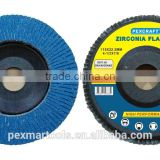 125MM High quality abrasive zirconia flap disc manufacturers