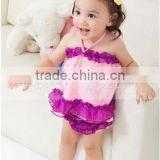 2015 new style lovely purple and pink outfit set swing summer sets girls suit baby girls sexy outfits