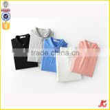 High quality adults short sleeve plain pure color mixed sizes stock custom blue 160g 100% pique cotton polo t shirt men