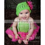 Girls Lime Green Crochet Tube Top Photo Prop 12M-3 Years