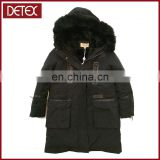 Cotton Detachable Fur Lining Hooded Children Coat
