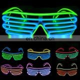 Led flashing light up el glasses shutter Shades el wire equalizer party Glasses