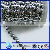 Supply electroplating circular section of circular flat bead plastic bead chain connectivity of beads chain