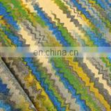 Blue/ Green Faso Waves Woolen Printed Fabric